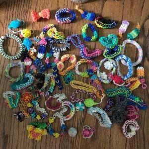 Assortment of rainbow loom bracelets!